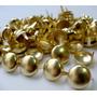 Kit 100 Cravinhos Bola Dourado 9mm - Tachas Tachinhas Spikes