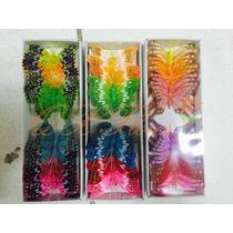 60 Borboleta Artificial De Pena Decorativa 3d-qx Flores