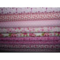 Kit Tecido Para Patchwork - Tricoline Floral Rosa - Kro1fg