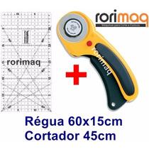 Kit Patchwork Cortador Circular + Régua 60x15 Scrapbook
