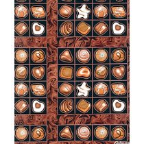 Tecido Importado Caixa De Bombons De Chocolate