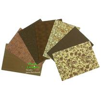 Kit Tecidos Tons De Marrom Retalhos Patchwork 25cm X 35cm
