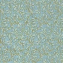 Tecido Natalino Gold Folhas Arabesco Azul 100% Alg 0,5m (200