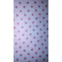 Tnt Poa Estampado - Decorado - 10mts -azul Com Marron