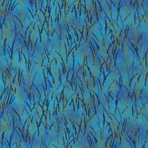 Tecido Natalino Gold Capim Azul 100% Alg 0,5m (200073/14)