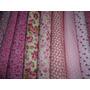 Kit Tecido Para Patchwork - Tricoline Floral Rosa - Kro1b