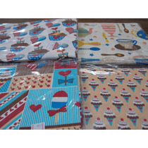 Kit Tecidos Cozinha Para Patchwork 4 Cortes De Meio Metro
