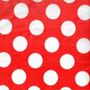 Tnt Impresso Para Festas Vermelho De Bolinhas Brancas Poá 1m