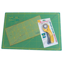 Kit Base De Corte Régua Cortador Manual Patchwork Scrapbook