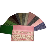 Retalho Tecido Tricoline Kit Floral Patchwork 14cortes 50x50