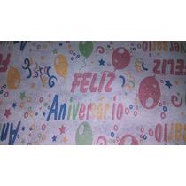 Tnt Feliz Aniversario Estampado - Decorado - 10mts