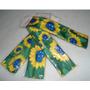 Tiara Do Brasil De Tecido Com Flores Verde E Amarelo
