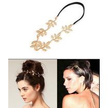 Headband - Tiara Folhas Douradas