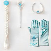 Kit Acessórios Frozen Elsa 4 Intens Com Luva- Pronta Entrega