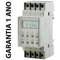Timer Temporizador Digital Trilho Quadro 220v 16 Prog + Nf