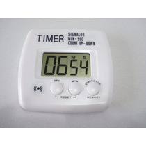 Timer Temporizador Digital Cronômetro Regressivo Branco 2