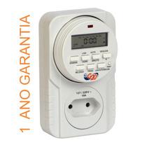 Timer Temporizador Digital 10a Bivolt Plugue 8 Programações