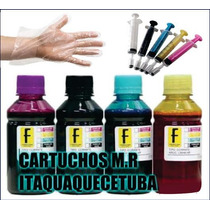 Refil Tinta Epson/brother Para Impressora 500ml C/ As 4 Cor