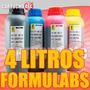 4 Litros De Tintas Formulabs Corante Para Epson E Bulk Ink