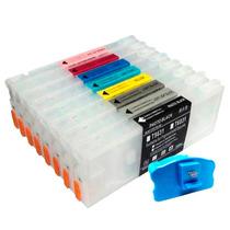Cartuchos Recarregáveis Plotter 7800 E 9800 + Chip + Reseter