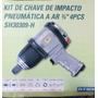 Kit De Chave De Impacto Pneumatica A Ar 3/4