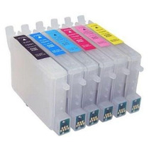 Kit Cartuchos Recarregáveis Epson R200 R220 R300 Rx500 R320