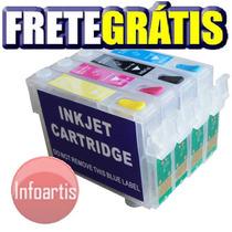 Kit 4 Cartucho Recarregável Tx115 Tx105 T24 T23 Frete Grátis