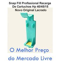 Snap Fill Profissional Recarga De Cartuchos Hp Novo Original