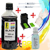 Kit 550 Tinta Recarga Cartucho Hp Snap 662 122 901 74 60 Xl