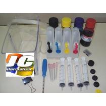 Kit Bulk Ink Hp 5525 Hp 6830 Hp 6230 Completo Com Tinta !!