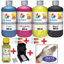 1100ml-kit Tinta Recarga Cartuchos Impressora Hp + Snap Fill