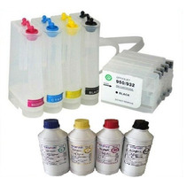 Bulk Ink Hp 8100 8600 8610 8620 8630 +500ml Tinta Pigmentada