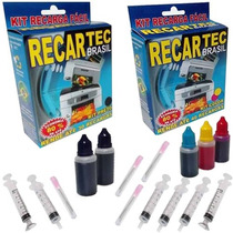 Kit Recarga Preto E Color Cartuchos Hp 21 122 60 662 46 664