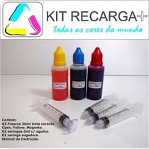 Kit Recarga Color Cartucho Hp 21 122 60 74 662 61 901