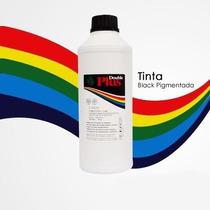 Litro Tinta Preta Double Plus Pigmentada Hp 60 122 901 21 61