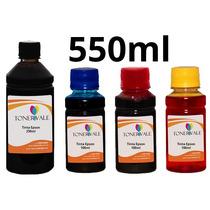 Recarga 4 Tinta Epson Tx125 T22 Tx120 Bulk Ink 550ml