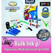 Bulk Ink Para Impressora Hp F4580 + 400ml De Tinta + Brinde!