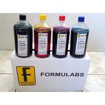 4 Litros Tinta Formulabs Corante Fotográfica Hp Kit 4 Cores