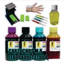 Kit Completo Recarga Cartuchos Hp Canon Lexmak C/ Snap Fill