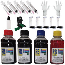 Tinta Cartuchos Hp 400ml 662 122 60 61901 + Solução Limpeza