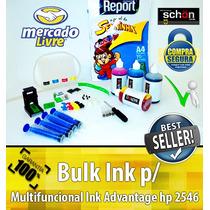 Bulk Ink Para Impressora Hp 2546 + 400ml De Tinta + Brinde!