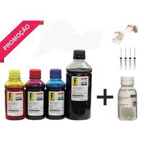 Tinta Para Recarga Cartuchos Impressora Hp Canon Lexmark-kit
