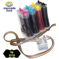 Bulk Ink Com Anti Refluxo E Tintas Para Impressora Hp D110