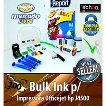 Bulk Ink Para Impressora Hp J4500 + 400ml De Tinta + Brinde!