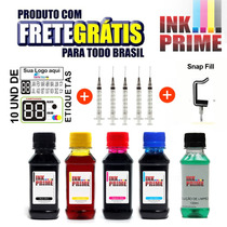 400ml Kit Tinta Pra Impressora Hp Epson+solução+frete Gratis