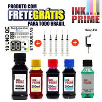 1100ml Kit Tinta Pra Impressora + Snap + Solução + Etiquetas