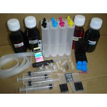 Bulk Ink Hp C/ Antirefluxo + 400 Ml Tintas + Snap Fill
