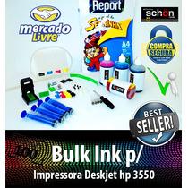 Bulk Ink Para Impressora Hp 3550 + 400ml De Tinta + Brinde!