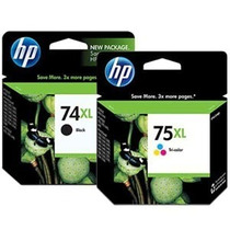 Kit De Cartucho Hp 74xl E 75xl Novo Original