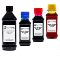 Kit Tinta Inktec Recarga De Cartucho 200ml Black 300ml Color